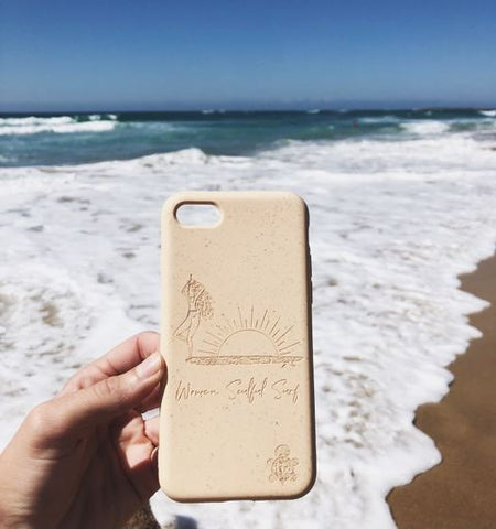 Women Soulful Surf Collab with itto, a Sydney, Australia-based business selling eco-friendly, biodegradable phone cases (aka Shells). These Shells are home and commercially compostable