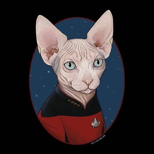 Star Trek: The Next Generation Picard Cat Portrait Adult Short Sleeve T-Shirt