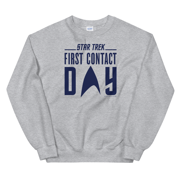 Star Trek: First Contact Day Blue Logo Fleece Crewneck Sweatshirt