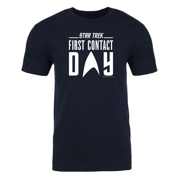 Star Trek: First Contact White Logo Adult Short Sleeve T-Shirt