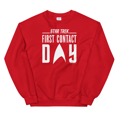 Star Trek: First Contact White Logo Fleece Crewneck Sweatshirt
