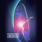 Star Trek: Generations Kirk & Picard Logo Tote Bag