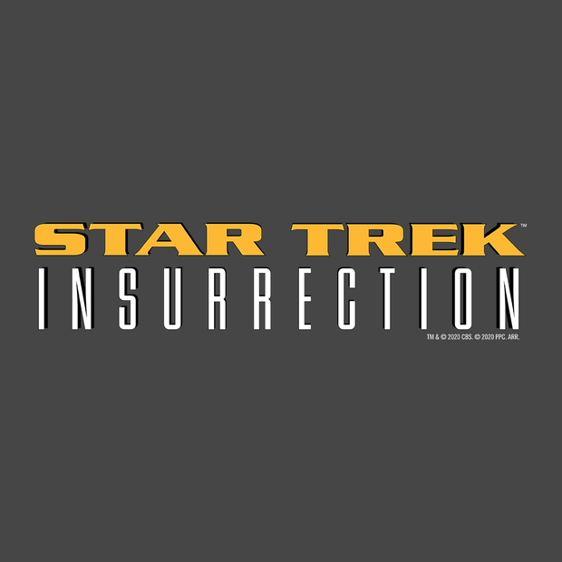 Star Trek IX: Insurrection  Logo Adult Short Sleeve T-Shirt