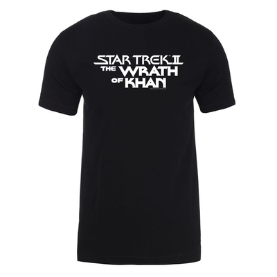 Star Trek II: The Wrath of Khan Logo Adult Short Sleeve T-Shirt