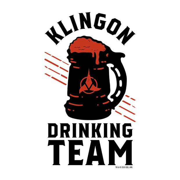 Star Trek Klingon Drinking Team Adult Short Sleeve T-Shirt