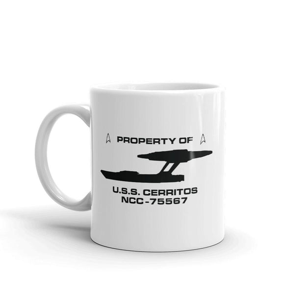 Star Trek: Lower Decks Property Of White Mug | Official CBS Entertainment Store