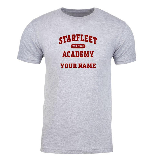 Star Trek: Starfleet Academy EST. 2161 Grey Personalized Adult Short Sleeve T-Shirt