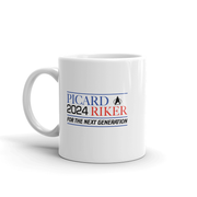Star Trek: The Next Generation Picard & Riker 2024 White Mug