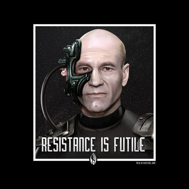 Star Trek: The Next Generation Picard Resistance is Futile Adult Short Sleeve T-Shirt