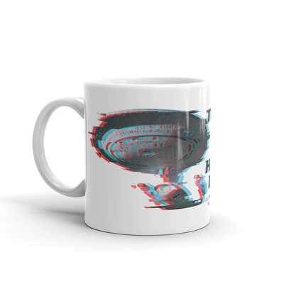 Star Trek: The Next Generation U.S.S. Enterprise Warp Jump White Mug