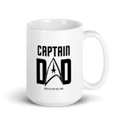 Star Trek: The Original Series TOS Captain Dad White Mug