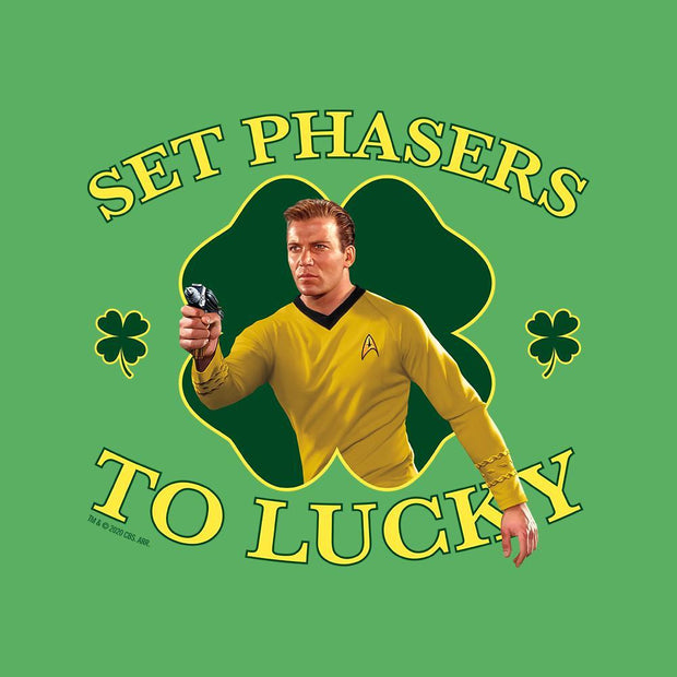 Star Trek: The Original Series Set Phasers to Lucky Adult Short Sleeve T-Shirt