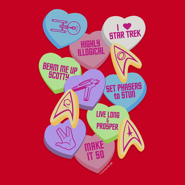 Star Trek Valentine's Day Collage Adult Short Sleeve T-Shirt