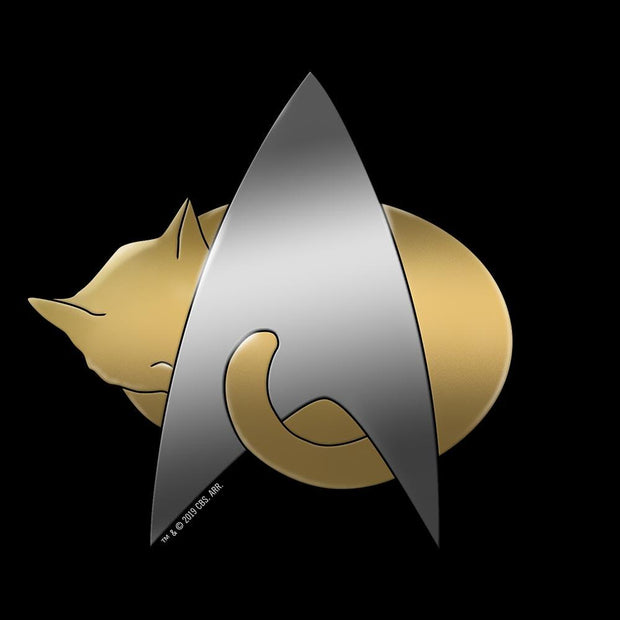 Star Trek: The Next Generation Kitty Cat Logo Adult Short Sleeve T-Shirt