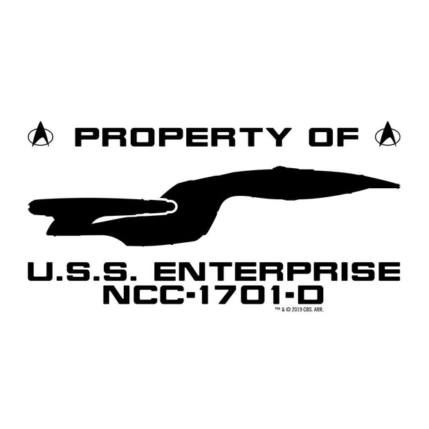 Star Trek: The Next Generation U.S.S. Enterprise Profile Adult Short Sleeve T-Shirt