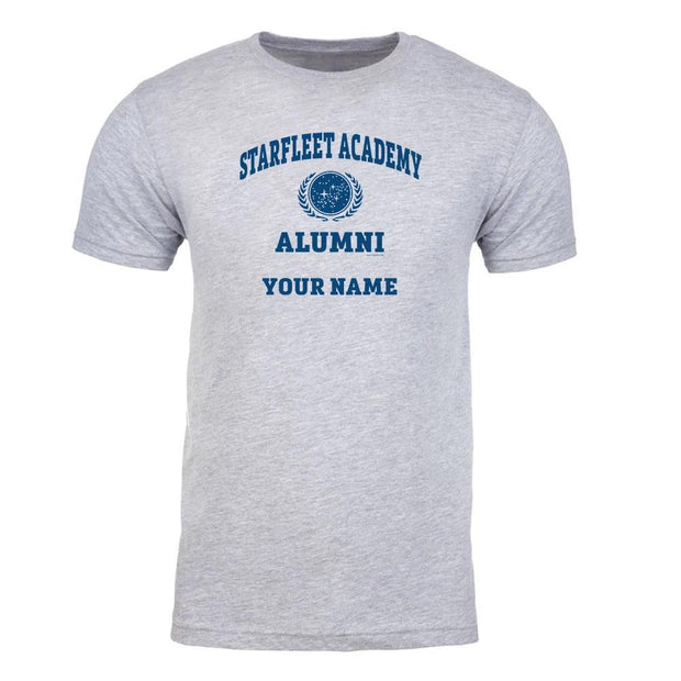 Star Trek: Starfleet Academy Alumni Grey Personalized Adult Short Sleeve T-Shirt