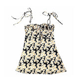 Disty daisy print mini sundress - CURATED by FS