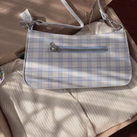 Plaid shoulder bag - CURATED by FS