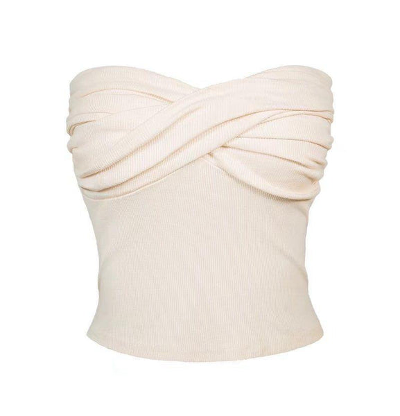 Classic ribbed bandeau top (5 colors) - CURATED by FS