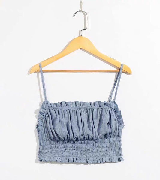 Ruched cami top (2 colors) - CURATED by FS
