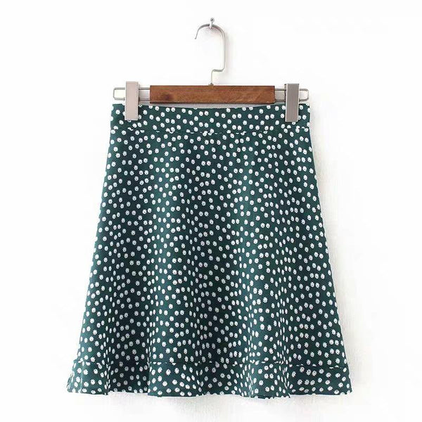 Daisy print summer mini skirt - CURATED by FS