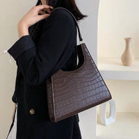 Structured croc shoulder bag - CURATED by FS