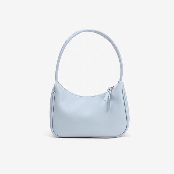 Mini hobo shoulder bag in blue - CURATED by FS