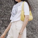 Mini hobo shoulder bag in honey - CURATED by FS