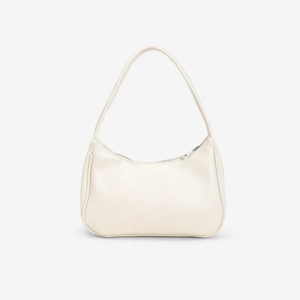 Mini hobo shoulder bag in cream - CURATED by FS