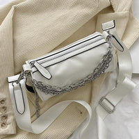 Vinyl cylinder shoulder bag in white (more colors) - CURATED by FS