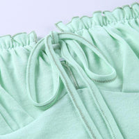 Milkmaid top in pastel green - CURATED by FS