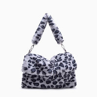 Leopard fluffy messenger tote (2 colors) - CURATED by FS