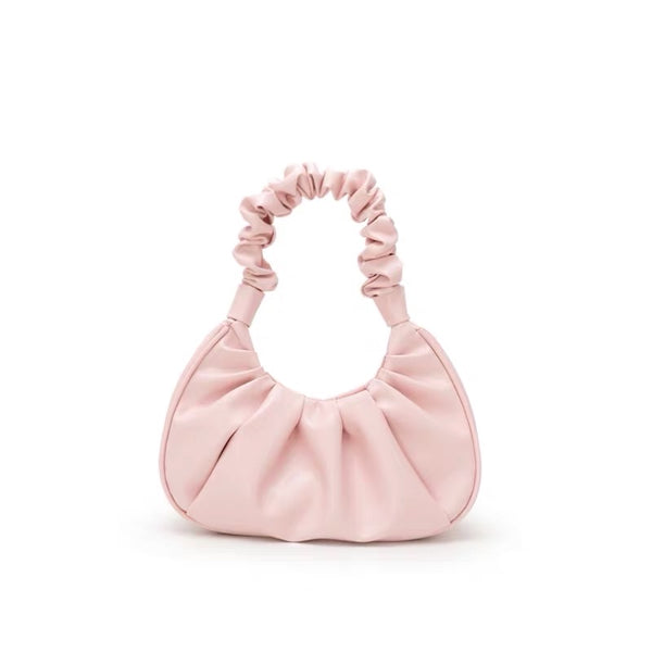 Ruched handle shoulder bag in pink - CURATED by FS