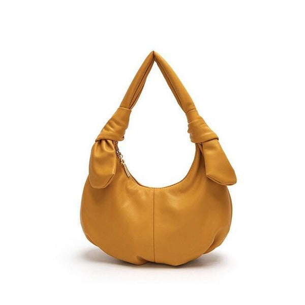 Knotty hobo bag in orange - CURATED by FS