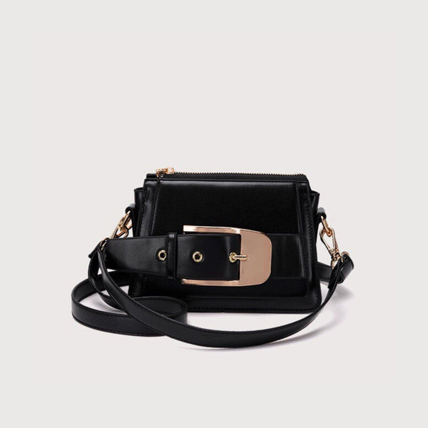 Crossbody bag with oversized buckle in black (more colors) - CURATED by FS