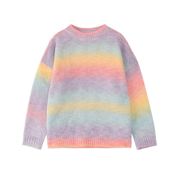 Pastel rainbow knit sweater - CURATED by FS