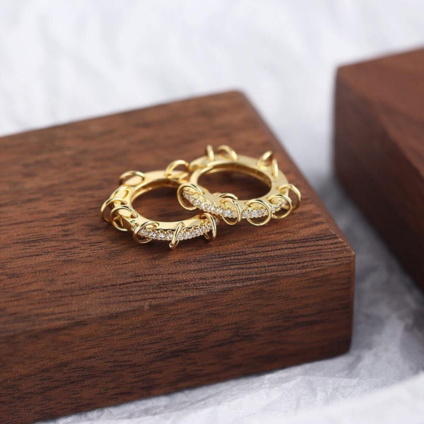 Gold multi-hoops huggie earrings - CURATED by FS