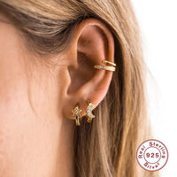 Gold New moon huggie earrings (more color) - CURATED by FS