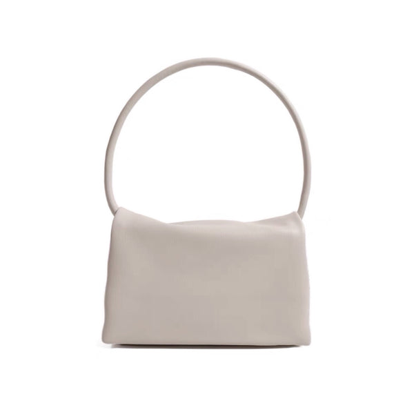 Mono shoulder bag in beige