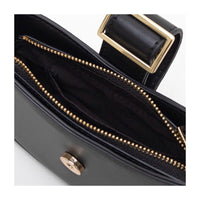 Buckle shoulder purse in black - CURATED by FS