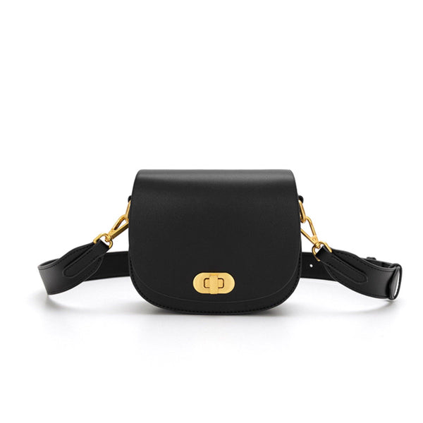 Mini saddle crossbody bag in black - CURATED by FS