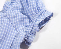 Gingham milkmaid dress - CURATED by FS
