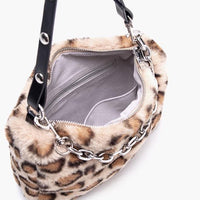 Leopard fluffy tote with chain (3 colors) - CURATED by FS