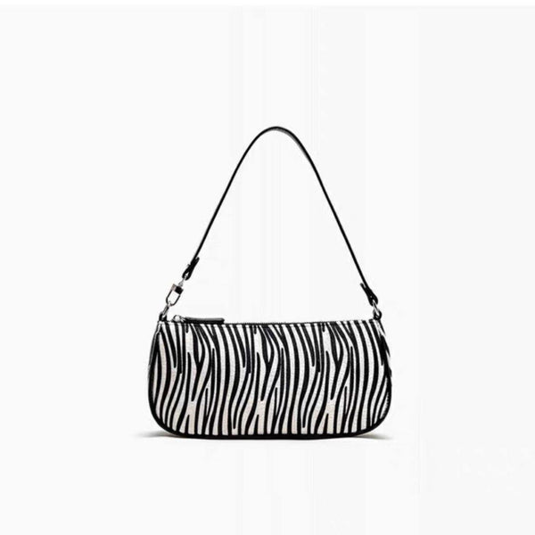 Zebra print 90s shoulder bag - CURATED by FS