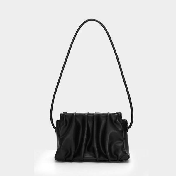 Midi ruched shoulder bag (4 colors) - CURATED by FS