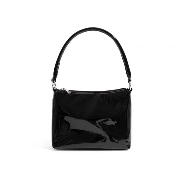 Vinyl black shoulder bag - CURATED by FS