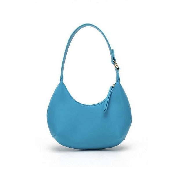 Crescent purse in blue - CURATED by FS