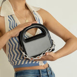 Mini box bag with chain - CURATED by FS