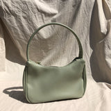 Mini hobo shoulder bag in olive green - CURATED by FS