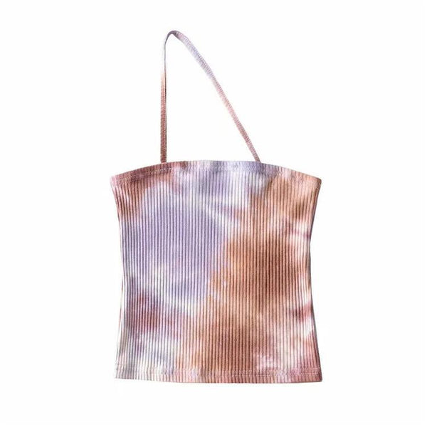 Tie dye single strap cami top (more colors) - CURATED by FS